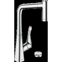 Смеситель hansgrohe Metris Select M71 для кухонной мойки, хром 73806000