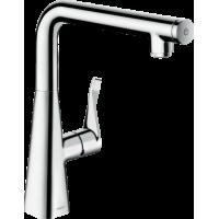 Смеситель hansgrohe Metris Select M71 для кухонной мойки, хром 73811000