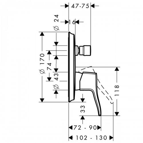 фото - Змішувач hansgrohe Metris Classic для ванни 31485000
