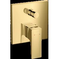 Смеситель hansgrohe Metropol для ванны настенный скрытый с рычаговой рукояткой, золото 32545990
