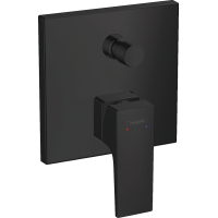 Смеситель hansgrohe Metropol для ванны настенный скрытый с рычаговой рукояткой, черный матовый 32546670