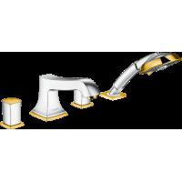 Смеситель hansgrohe Metropol Classic на 4 отверстия с ручным душем 31315090