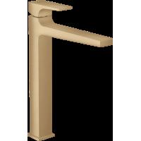 Смеситель hansgrohe Metropol для раковины со сливным клапаном Push-Open 32512140 бронза
