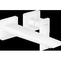 Смеситель hansgrohe Metropol для раковины настенный, белый матовый  32526700
