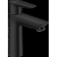 Смеситель hansgrohe Talis E для раковины со средним изливом и сливным гарнитуром, черный матовый 71710670