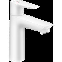 Смеситель hansgrohe Talis E для раковины со сливным гарнитуром, белый матовый 71713700