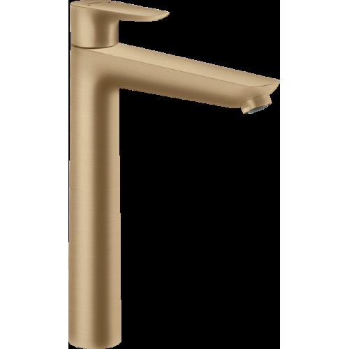 фото -  Змішувач hansgrohe Talis E для раковини з високим виливом та зливним гарнітуром, бронза матовий 71716140