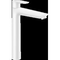 Смеситель hansgrohe Talis E для раковины с высоким изливом и сливным гарнитуром, белый матовый 71716700