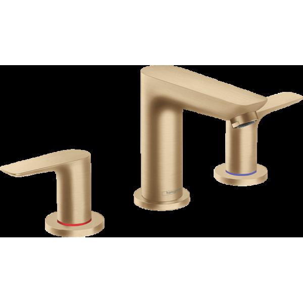 фото -  Смеситель hansgrohe Talis E на три отверстия с донным клапаном, бронза матовый 71733140