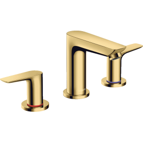 Смеситель hansgrohe Talis E на три отверстия с донным клапаном, золото 71733990