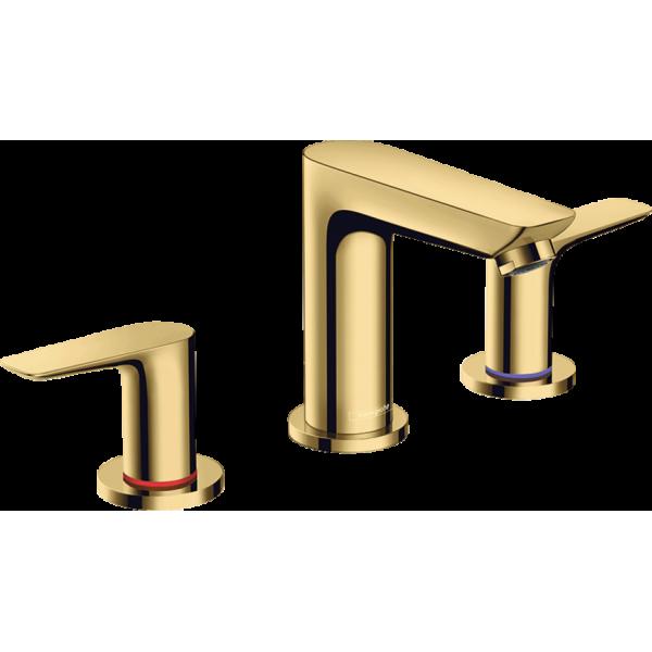 фото -  Смеситель hansgrohe Talis E на три отверстия с донным клапаном, золото 71733990
