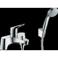 Смеситель hansgrohe Focus с  2 отверстиями для ванны, с ручным душем Crometta 85 1jet 31521000