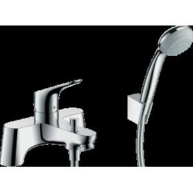 Змішувач hansgrohe Focus с  2 отворами для ванни, з ручним душем Crometta 85 1jet 31521000