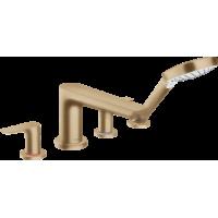 Смеситель hansgrohe Talis E для ванны на 4 отверстия, бронза матовый 71748140