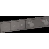 Термостат hansgrohe RainSelect скрытого монтажа на 2 потребителя, матовый черный хром 15380340
