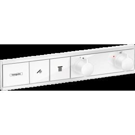 Термостат hansgrohe RainSelect прихованого монтажа на 2 споживача, білий матовий 15380700