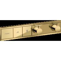 Термостат hansgrohe RainSelect скрытого монтажа на 2 потребителя, золото 15380990