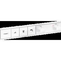 Термостат hansgrohe RainSelect скрытого монтажа на 3 потребителя, белый матовый 15381700