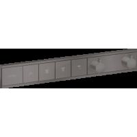 Термостат hansgrohe RainSelect скрытого монтажа на 4 потребителя, матовый черный хром 15382340