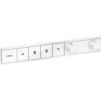 Термостат hansgrohe RainSelect прихованого монтажа на 4 споживача, білий матовий 15382700