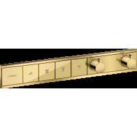 Термостат hansgrohe RainSelect скрытого монтажа на 4 потребителя, золото 15382990