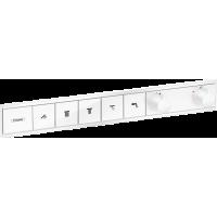 Термостат hansgrohe RainSelect скрытого монтажа на 5 потребителей, белый матовый 15384700
