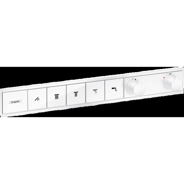 фото - Термостат hansgrohe RainSelect скрытого монтажа на 5 потребителей, белый матовый 15384700