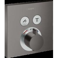 Термостат hansgrohe ShowerSelect для душа матовый черный/хром 15763340