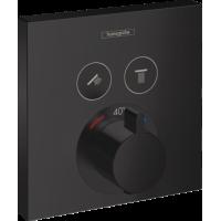 Термостат hansgrohe ShowerSelect для душа чорний матовий 15763670