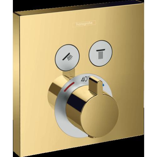 фото - Термостат hansgrohe ShowerSelect для душа золото 15763990