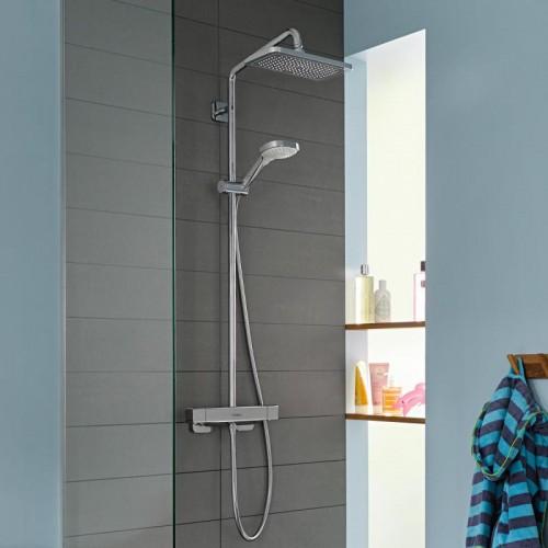 фото - Душевая система hansgrohe Croma E Showerpipe 280 1jet 27630000 с термостатом