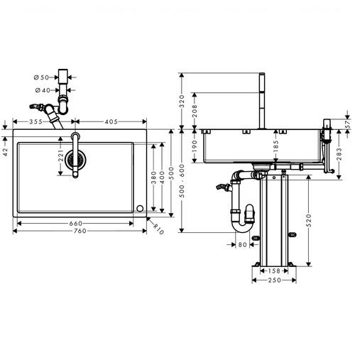 фото -  Кухонний комплект hansgrohe C71-F660-08, хром 43202000
