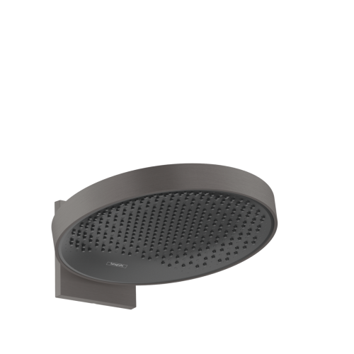 фото - Верхний душ hansgrohe Rainfinity 360 1jet с настенным соединителем 26230340 черный матовый хром
