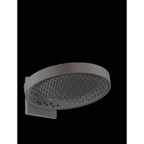 фото - Верхний душ hansgrohe Rainfinity 360 3jet с настенным соединителем 26234340 черный матовый хром