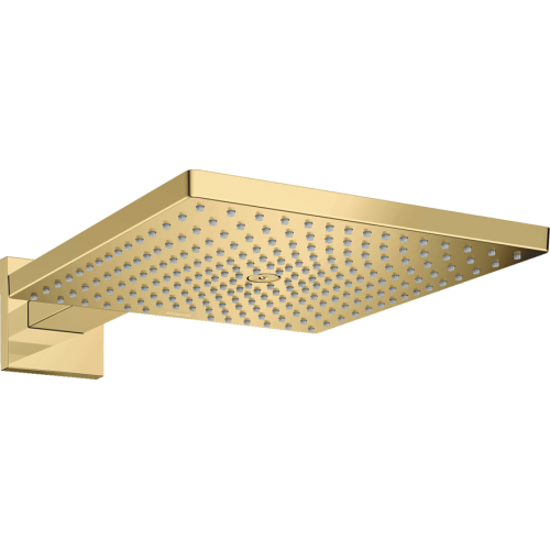 фото - Верхний душ hansgrohe Raindance E 300 1jet с душевым кронштейном, золото 26238990