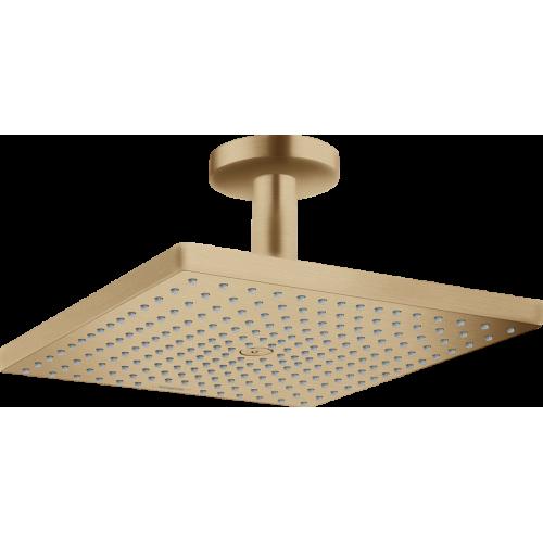 фото - Верхний душ hansgrohe Raindance E 300 1jet с потолочным соединителем, бронза матовый 26250140