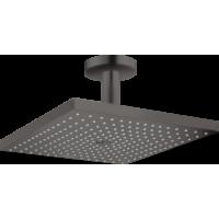 Верхний душ hansgrohe Raindance E 300 1jet с потолочным соединителем, матовый черный хром 26250340