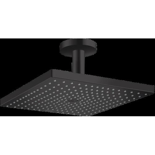 фото - Верхний душ hansgrohe Raindance E 300 1jet с потолочным соединителем, черный матовый 26250670