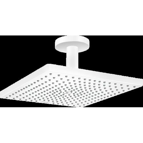 фото - Верхний душ hansgrohe Raindance E 300 1jet с потолочным соединителем, белый матовый 26250700