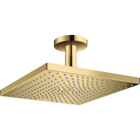 Верхний душ hansgrohe Raindance E 300 1jet с потолочным соединителем, золото 26250990