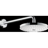 Верхний душ hansgrohe Raindance Select S 240 2jet EcoSmart настенный, белый/хром 26470400