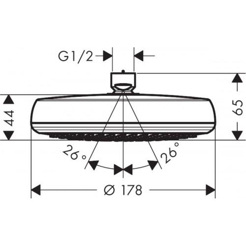 фото - Верхний душ hansgrohe Crometta 160 1jet LowPressure 26577000