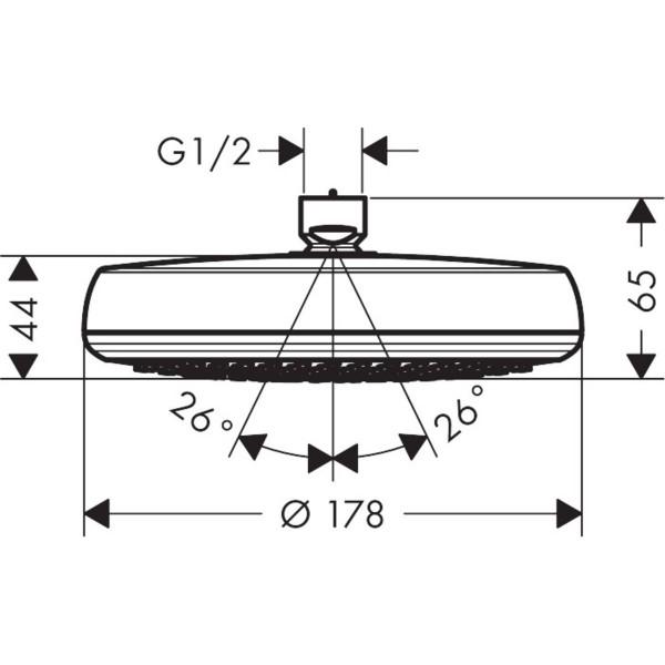 фото - Верхний душ hansgrohe Crometta 160 1jet LowPressure 26577400