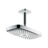 Верхний душ hansgrohe Raindance Select E 300 2jet потолочный, белый/хром 27384400