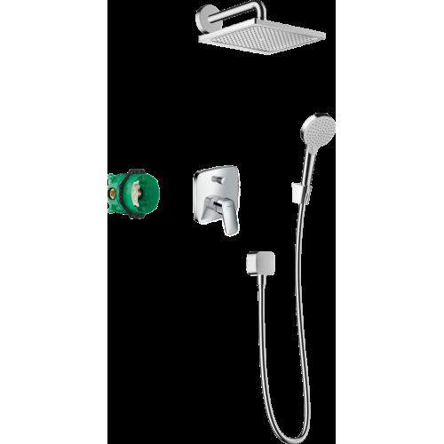 фото - Душевая система hansgrohe Crometta E 240 с однорычажным смесителем 27957000 хром