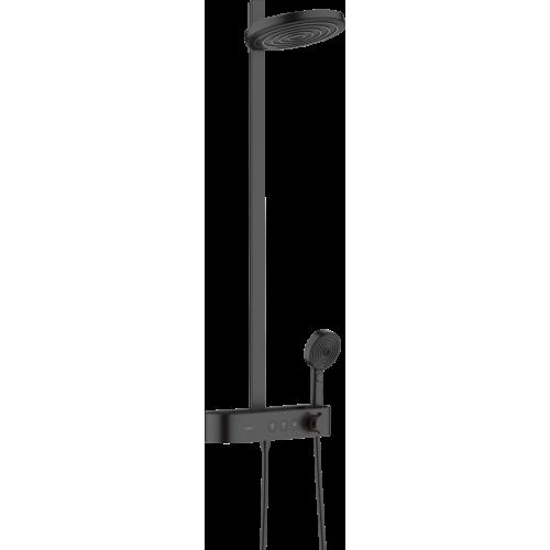 фото - Душевая система hansgrohe Pulsify Showerpipe 260 2jet с термостатом 24240670 черный матовый