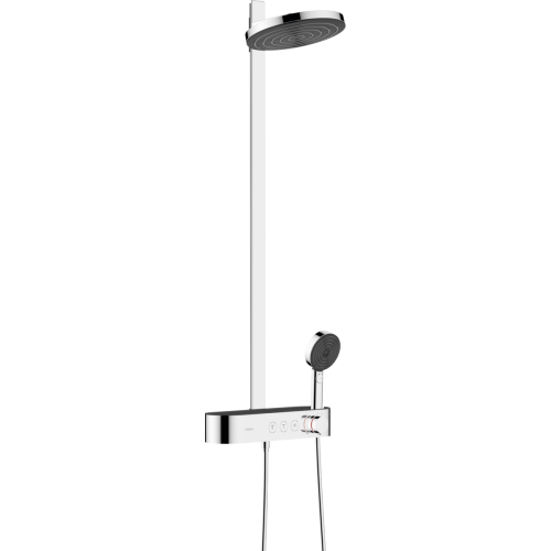 фото - Душевая система hansgrohe Pulsify Showerpipe 260 2jet EcoSmart с термостатом 24241000 хром