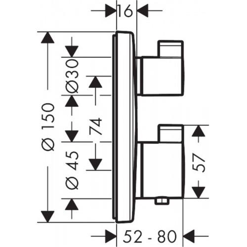 фото - Термостат hansgrohe Ecostat S для душа 15758000