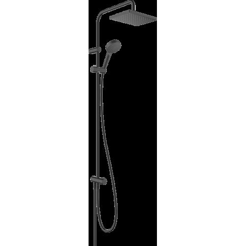 фото - Душевая система hansgrohe Vernis Shape Showerpipe 230 1jet Reno EcoSmart 26289670 черный матовый