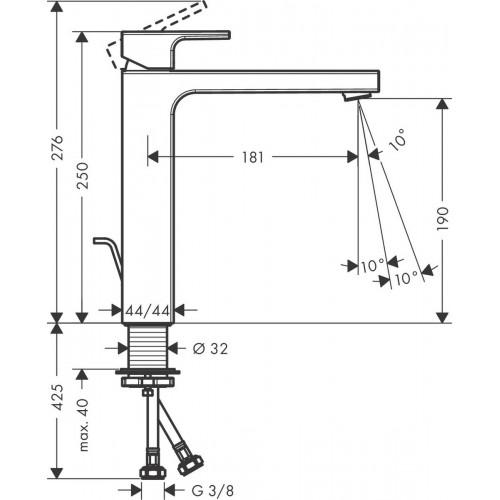 фото -  Змішувач hansgrohe Vernis Shape для раковини із зливним гарнітуром, хром 71590000